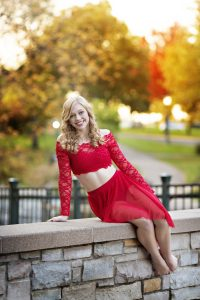 Dancer in Red Costume