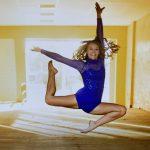 Solo Dancer Posing in Blue