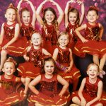 Young Dancers in Red